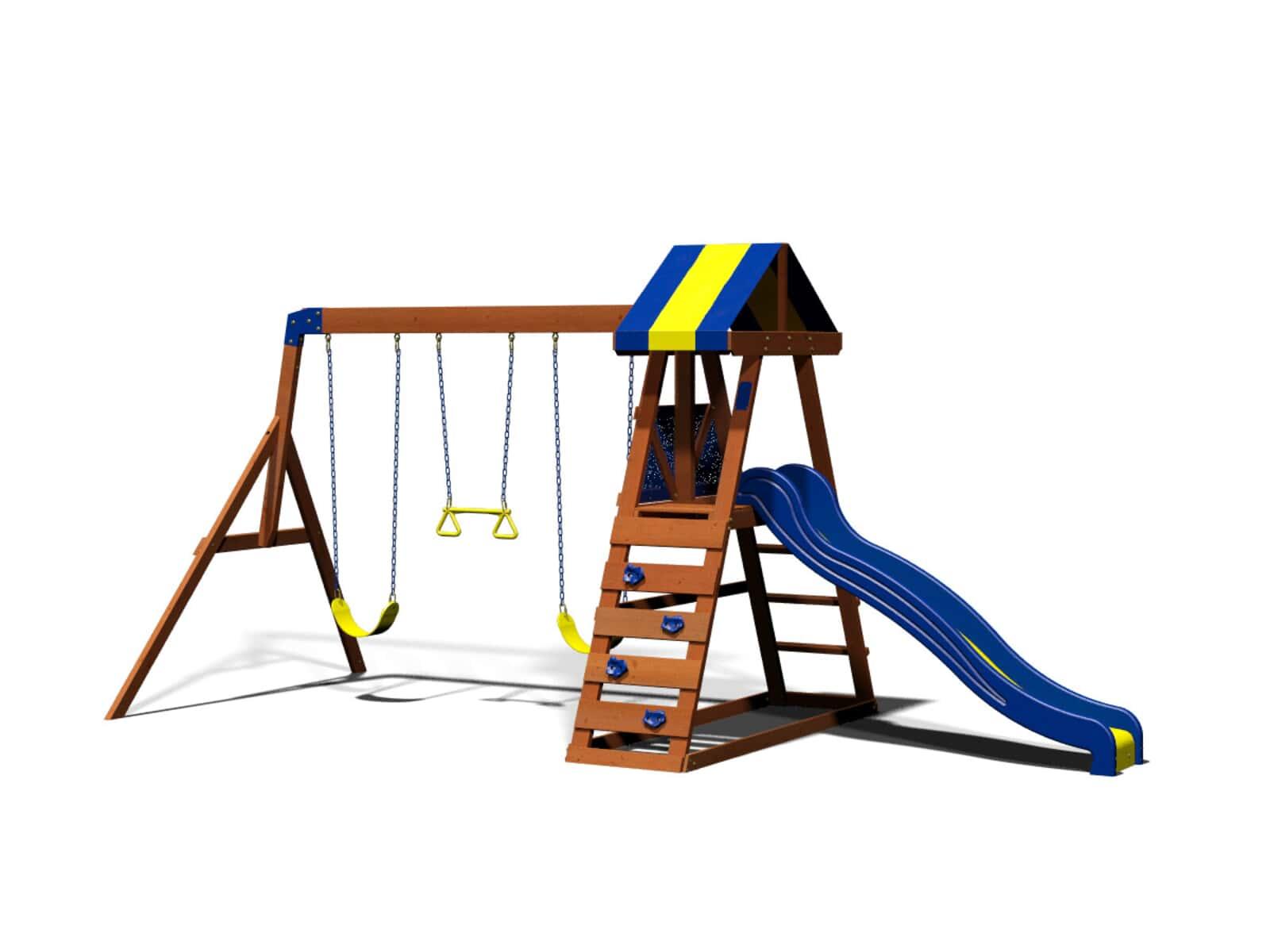 Dayton Wooden Swing Set Playsets Backyard Discovery